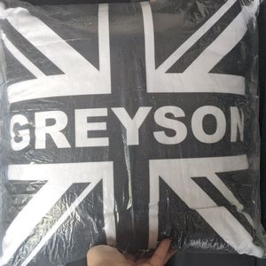 Customer British Black and White Pillow Greyson
